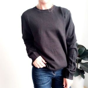 asos Black Oversized Basic pull over sweat shirt